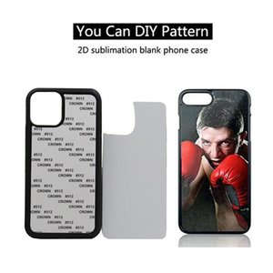 Blank 2D Sublimation TPU PC phone Case with Aluminum Inserts for iPhone 12 11 Pro Max 8plus X xr xs max DHL Free