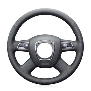 DIY Leather Car Steering Wheel Cover For Audi A3 Sportback (8PA) A4 Avant (8K5, B8) A5 (8T3) A6 (4F2, C6) A8 (D3) Q5 (8RB) Q7