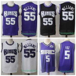 Los hombres de SacramentoreyesJersey 5 De'Aaron Fox New Jersey Jason 55 Baloncesto Williams Pantalones cortos 10 18