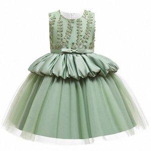Macaron-Mädchen-Kleid-Spitze-Blumen-Prinzessin-Hochzeit für Mädchen Children 's-Kind-Kleidung-Abend-Partei Pricess Kleider L5177 Grbd #