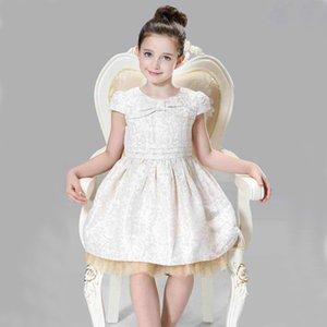 Childkivy 3-10 ans Automne Princess Girl Girl Gold Robe Enfants Christmas Robes Pour Filles Enfants Festival Vêtements T200709