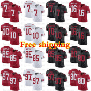 10 Jimmy Garoppolo Francisco jersey 85 George Kittle 97 Nick Bosa 80 Jerry Rice 16 Montana 7 Kaepernick jerseys