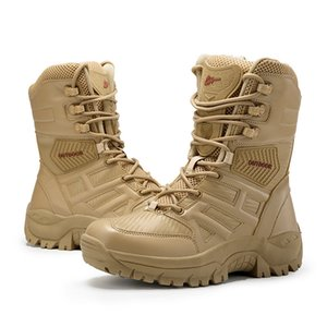 Mynde Men High Quality Brand Military Leather Boots Special Force Tactical Desert Combat Men's Boots Outdoor Shoes Ankle Boots 200930