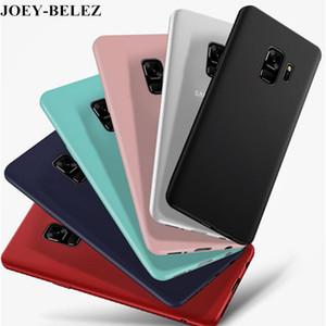 Ultra mince cas pour Samsung S9 + Plus silicone TPU Matte Cover pour Galaxy J2 J3 J5 J7 Premier A3 A5 A7 2017 S6 S7 S8 S9 bord plus