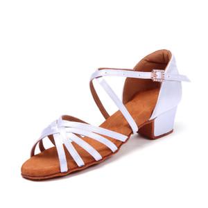 Латинская обувь танцовщиц взрослого мягкая подошвы начинающего обучения обуви дети плоских каблуками танцы обувь