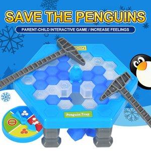 핫 저장 펭귄 아이스 키즈 퍼즐 게임 브레이크 얼음 블록 해머 트랩 클래식 파티 게임 장난감 펭귄 함정 상호 작용하는 재미있는 게임