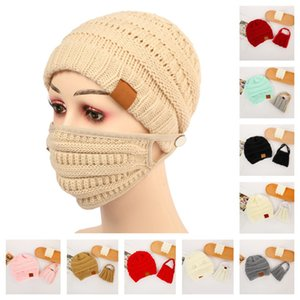 Women Girls Knit Beanie Cap with Face Mask Set Warm Lined Tuque Bonnet Gorros and Matching Mask Winter Ski Crochet Hat 14 Colors E122104