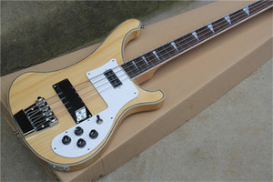 free shipping 4 strings 4003 electric bass guitar,maple neck through body, wood body,rickb bass, special binding free delivery