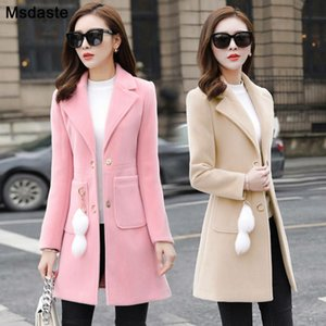 Blends Woolens Overcoat Women Plus size Coat Female New Autumn Winter Wear Ladies Coats And Jackets Women's Wool Coats Long Tops 201006