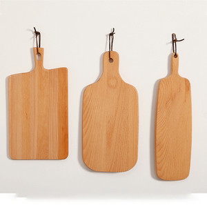 Wooden Cutting Boards Pizza Fruit Bread Plate Wood Chopping Board Baking Bread Board Tool Restaurant Sushi Tray Dishes 7 Sizes DBC BH4585