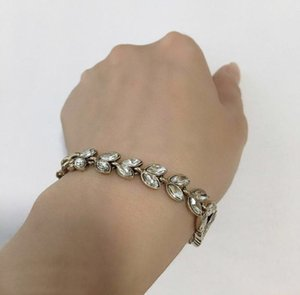 Fashion brand Have stamps crystal designer bracelet for lady women Party wedding lovers gift engagement luxury jewelry for Bride With BOX
