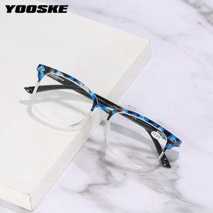 Yooske Fashion Women's Reading Lunettes PC Transparent Eyeewears ronds Lunettes optiques Présbyopique avec dioptries +125 1751