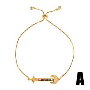 Aosheng chapados en oro micro ajustable incrustaciones de corona creativo nuevo color tesoro brb60 Aosheng chapados en oro micro ajustable incrustaciones de coronar Bracel