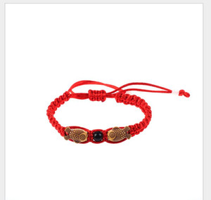 Girls braceletLucky China Red Rope Beads National Style Kabbalah String Braided Friendship Adjustable Braceletspsps1477