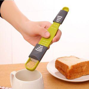 Adjustable Scale Coffee Measuring Spoons Double End 8 Stalls Measure Spoon Baking Tool Spoon Kitchen Seasoning Measuring Spoons