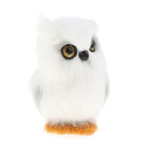 Canlı Simülasyon Peluş Hayvan Modeli Ev Dekorasyon Çocuk Oyuncak Doğum Hediye Figures - Baykuş