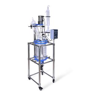 ZZKD 10L лабораторные принадлежности стеклянные реактор конденсатор с падениями колбу мешалки уплотнения для химической реакции
