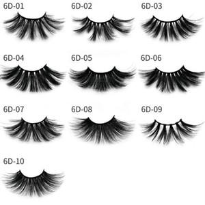 Top 6D 25mm Eyelashes 100% Volume Natural Long Hair 3D Mink False Eyelashes Extension Fake Lash Makeup Mink Eyelashes Pack