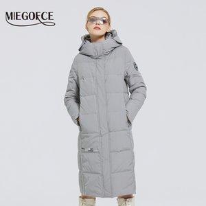 MIEGOFCE Yeni Kadın Uzun Pamuk Palto ile miegofce Tasarım Kış Su geçirmez Parkas Windproof Giyim Kadın Ceket 201022
