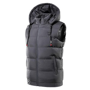 Body Warmer Usb Sleeveless Hooded Electric Heated Vest Physiotherapy Heated Pad Thermal Hot Heating Winter Coat Clothing V7M1