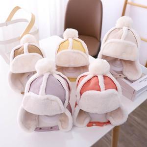 새로운 겨울 아기 모자 따뜻한 키즈 모자 스웨이드 소년 모자 아이 모자 아기 모자 귀마개 모자 여자 모자 아이 모자 덫 hat b2625