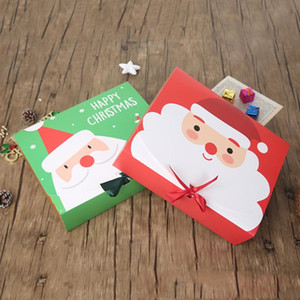 Christmas Paper Gift Box Cartoon Santa Claus Gift Packaging Boxes Christmas Party Favor Box Bag Kid Candy Box Xmas Party Supplies#M5608
