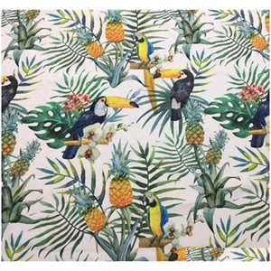 Rainforest Summer Parrot Digital Print Ramphasto Chair Upholstery Sofa Armchair Velvet Fabric Decorative Pillow qylPdn hotstore2010