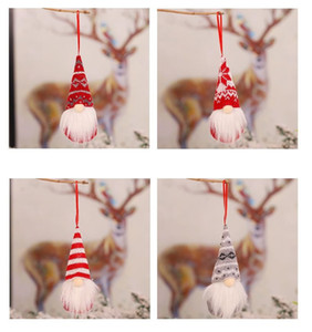 Christmas Decorations Knitted Wool Forest Man Doll Charm Faceless Doll Christmas Tree Decoration Pendant nice and popular style
