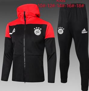 20/21 Bayern Paris Crianças de futebol Treino Kit Mbappé Enfant 2020 2021 Marseille Formação ar Suit Jordam treino om survêtement criança Hoodie