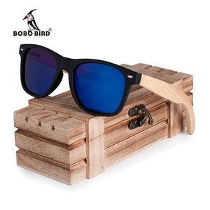 BOBO BIRD Wood Sun Glasses Bamboo Legs Polarized Lens Cool Sun Glasses With Wooden Gift Boxes for Friends CG004