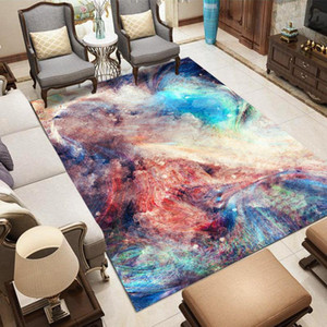 Nordic style Big Size Carpet Galaxy Space 3D Print Rug Flannel Parlor Area Rugs Bedroom Decor Carpets for Living Room Home Mats