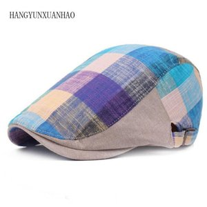 Classic Englad Style Plaid Berets Caps For Men Women Casual Unisex Sports Caps Cotton Berets Hats Boina Casquette Flat Cap