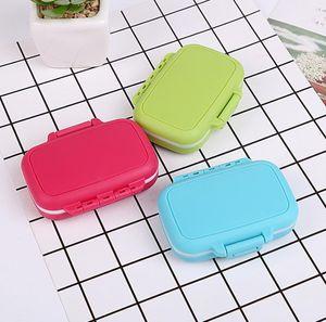 New Pill box portable first aid kit Travel 3 lattice small Pill Kit Family Mini pill Storage bag wholesale SN5079