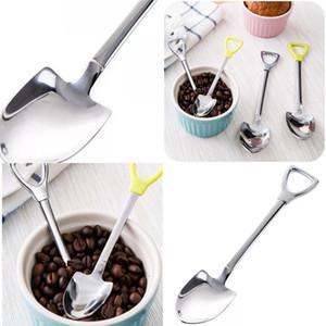 Spoon Shaved Shave Spoon Fork Acier Inoxydable Café Multicolore Strois Sèvres Eco Friendly Mode Sale chaude 2 3GD2 UU