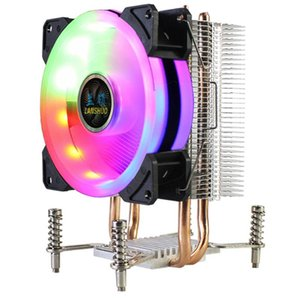 LANSHUO CPU Cooler RGB CPU Radiator 2 Heat Pipes Ultra Quiet Cooler Fan for LGA 2011 X79 X99 X299 (4Pin Single Fan)