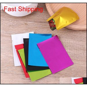 100pcs Multi Color Resealable Zip Mylar Bag Food Storage Aluminum Foil Bags Plastic Packing Bag Sm qylSjH toys2010