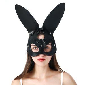 UYEE mujeres atractiva del punk cosplay máscara de cuero Fetiche erótica del gato del oído Máscara de la mascarada del partido de Cosplay Carnival