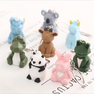 Cute Fashion Cute Dinosaur Unicorn Rabbit Keychain Key Ring Cat Cartoon Animal Key Chain Car Bag Phone pendant Key Ring Gift for Girls