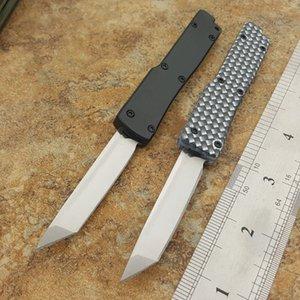 Die eine Mini-Key Schlüsselanhänger Schnalle Messer Aluminium doppelte Wirkung Satin 440C tanto Folding Taschenmesser Weihnachtsgeschenk Messer Klinge