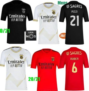 niños kit 20 21 SL Benfica camisetas de fútbol de Tercera de Visitante 2020 2021 RAFA jota Pizzi GRIMALDO Rúben T Seferovic Vinícius camisetas de los uniformes