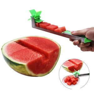 watermelon slicer cutter stainless steel knife corer tongs windmill watermelon cutting fruit vegetable tools kitchen gadgets hPJIs