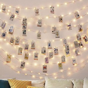 Photo Clip USB Led Lights Decoration Bedroom Battery Operated LED String Lamp Fairy Garland Lights For Christmas Party Wedding