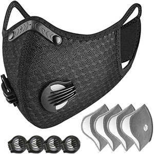 В STOCK роскошный Велоспорт Маска для лица Активированный уголь с фильтром РМ2,5 Anti-Загрязнения Спорт Запуск Обучение защиты от пыли маски