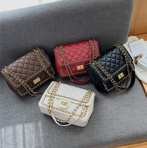 Factory wholesale women handbag classic plaid leather shoulder bag new chain decoration women messenger bag Joker leather fashion bag