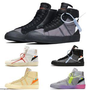 Nike Blazer The Ten OW البرتقال الأسود السترة MID Reepers قاتمة الاحذية رجل إمرأة الشريط Cavans THE TEN PRESTRO أحذية رياضية أحذية كرة السلة