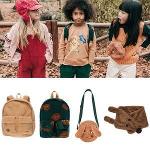 EnkeliBB European And American Style Brand Design Kids Autumn Winter School Bag Kids All Accessories LJ200921