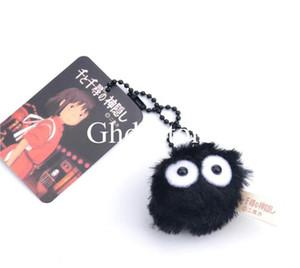 """En Yeni 1.5"""" 4CM Benim Komşum Totoro Toz Kurum Peluş Bebek Anime Koleksiyon Anahtarlık Kolye Doldurulmuş Yumuşak oyuncaklar"""