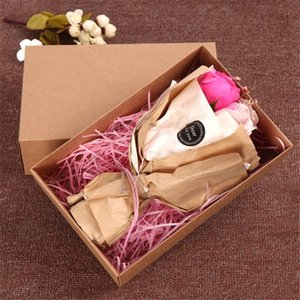 30pcs lot White Black Brown Large Kraft paper gift packaging box,kraft cardboard handmade Socks underwear box 28x18x8cm
