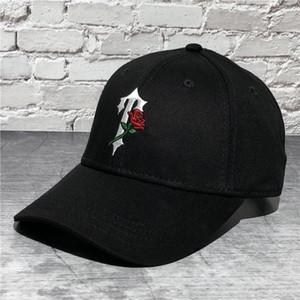 TrapStar Rose Broderie Basque de baseball pour hommes Femmes Hip Hop Trucker Dad Hat Chapeau Snapback Caps Summer Beach Golf Visor Visière Réglable Streetwear