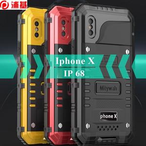 Wasserdicht 360 Vollschutz Fall für iPhone XS x Unterwassertauchen IP68 Abdeckung Metall Stoßstange Stoßfest